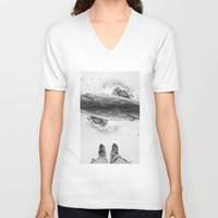 solid V-neck T-shirts featuring Solid ground by Stoian Hitrov - Sto