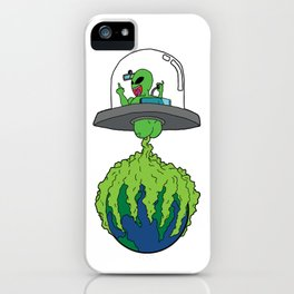 Part-time invader, full-time crop duster iPhone Case