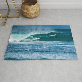 Surfing Hawaii Rug