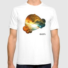 Nebula White Mens Fitted Tee SMALL