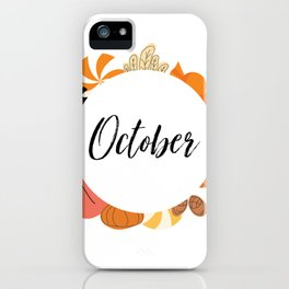 October Bullet Journal iPhone Case