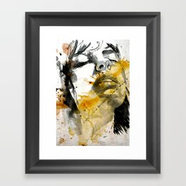 splash portraits Framed Art Print