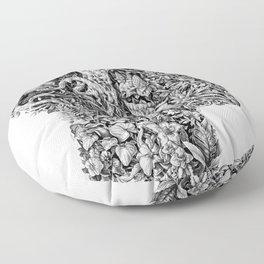 portrait of summer Floor Pillow