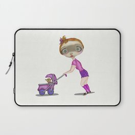 Small Girl With Puppy   Laptop Sleeve