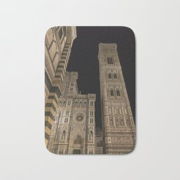 piazza del duomo cathedral square Firenze Tuscany Italy Bath Mat