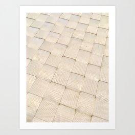 White Woven Pattern Art Print