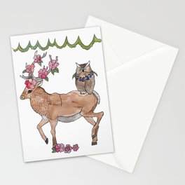 unlikely friends Stationery Cards