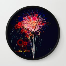 Fireworks! Wall Clock