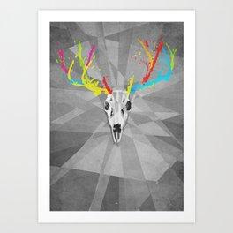 Blitzen Skull Art Print