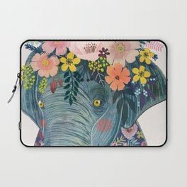 Elephant with flowers on head Laptop Sleeve