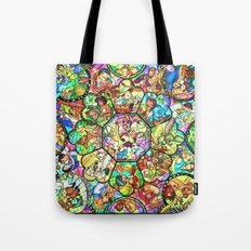 Mickey Mouse and Friends - Stained Glass Window Collage Tote Bag