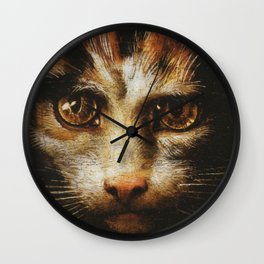 Cat in the art - Giuio Romano – the lady with the cat Wall Clock