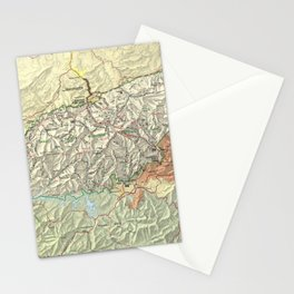 The Great Smoky Mountains National Park Map (1997) Stationery Cards