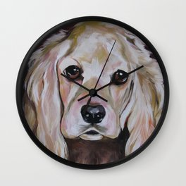 Cocker Spaniel Dog Pet Portrait Wall Clock