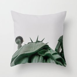 A Lady in green - NYC Throw Pillow