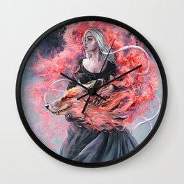 DragonFox Wall Clock