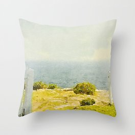 Pemaquid Point, Gate to the Ocean  Throw Pillow