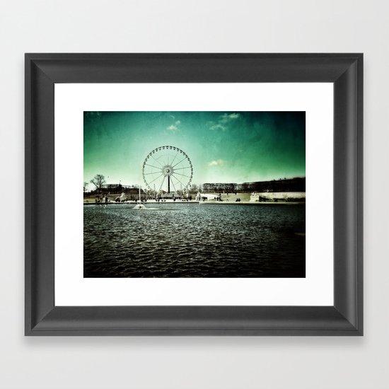 Paris Wheel II Framed Art Print