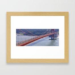 Golden Gate Tilt-shift Framed Art Print