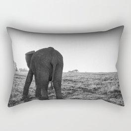 African elephant walking alone Rectangular Pillow