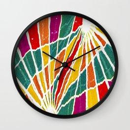 Multicolored Vibrations Abstract Art Wall Clock