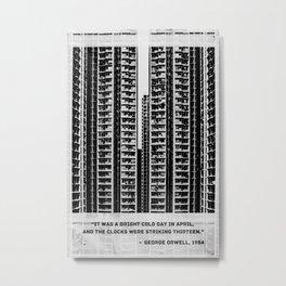 George Orwell 1984 Quote Metal Print