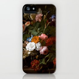 Rachel_Ruysch_-_Vase_with_Flowers_-_1700_-_Mauritshuis_151.jpg iPhone Case