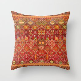 moroccan towel Throw Pillow