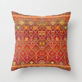 moroccan towel Throw Pillow