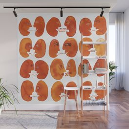Communication / Communicable Red Heads Wall Mural