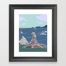 lone pelican Framed Art Print