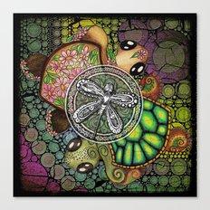 Baby Turtle Art Blend Canvas Print