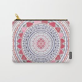 Red & Leisure Blue Mandala Carry-All Pouch