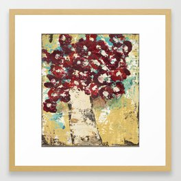 Red Tree Framed Art Print