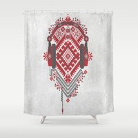 ethnic Shower Curtains featuring Ethnic by sophtunes
