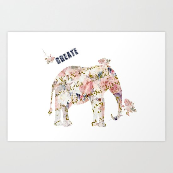 Elephant Create Art Print