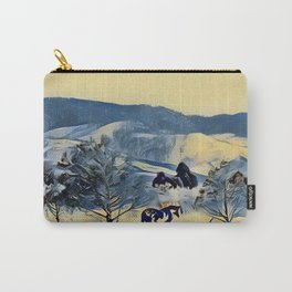 Indian Pony Yellow Winter by CheyAnne Sexton Carry-All Pouch