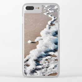 Foam on the beach on the Sunshine Coast Clear iPhone Case