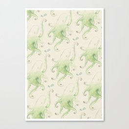 Septopus Wallpaper Canvas Print
