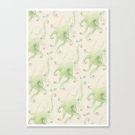 Septopus Wallpaper Canvas Print