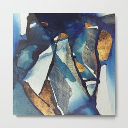 Cobalt Abstract Metal Print
