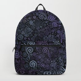 3d Psychedelic Violet and Teal Backpack