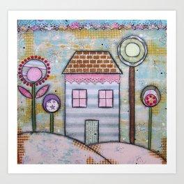 Home & Flower Spring Art Print