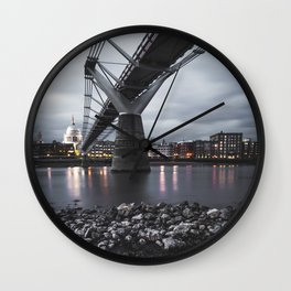 St Paul`s Cathedral after sunset Wall Clock