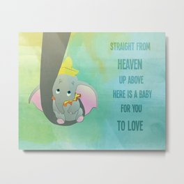 an elephant sent from heaven Metal Print