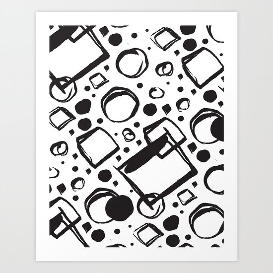 ABSTRACT 011 Art Print