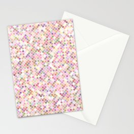 Happy Pastel Square Pattern Stationery Cards