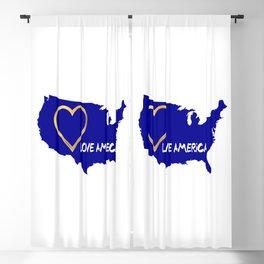 Love America USA Map Silhouette Blackout Curtain