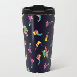 Origami blue Travel Mug