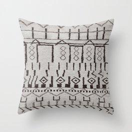 (N7) Original Moroccan Brown Artwork Throw Pillow